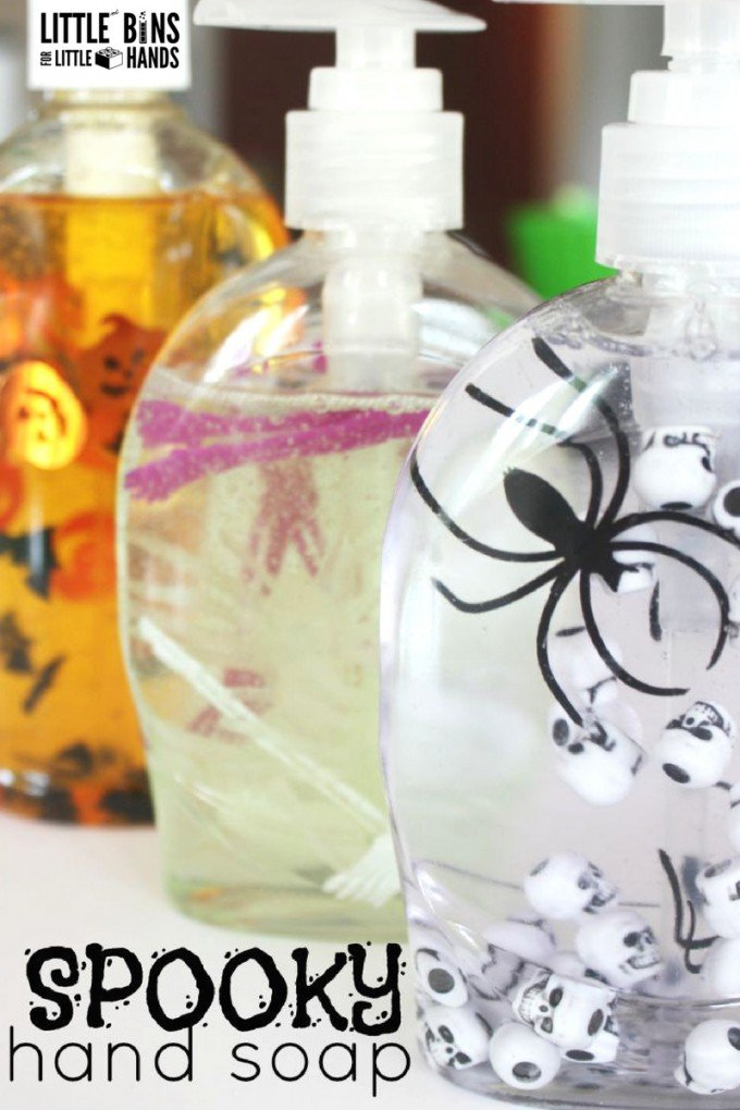Get Kids To Wash Their Hands The Fun Way with This Cool Halloween Soap Dispenser.