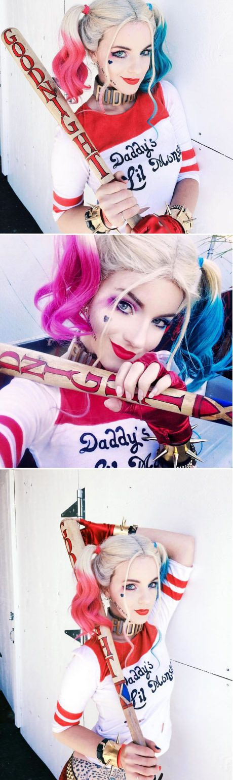 Harley Quinn Baseball Bat Costume.