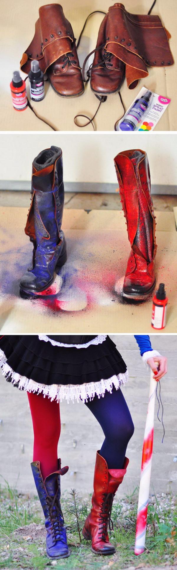 DIY Harley Quinn Arkham Knight Costume.