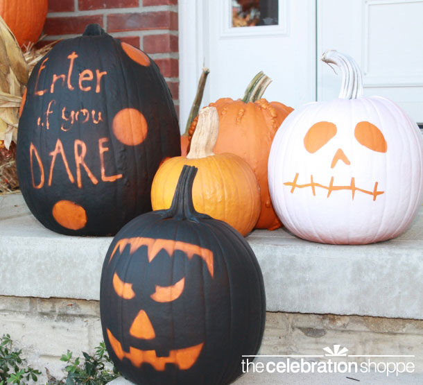 40+ Cool No-Carve Pumpkin Decorating Ideas 2017