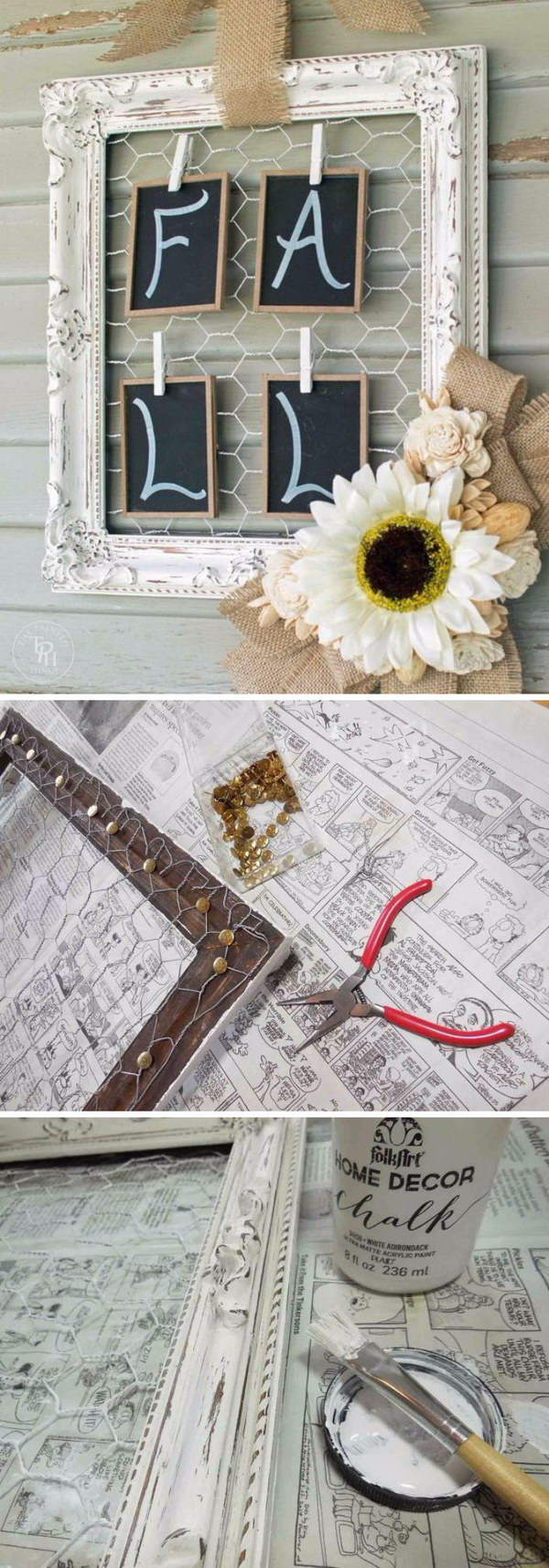 Shabby Chic Fall Wreath Tutorial.