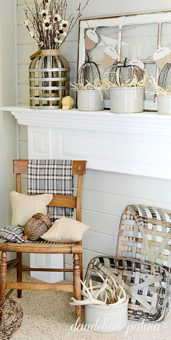 Neutral Fall Mantel.