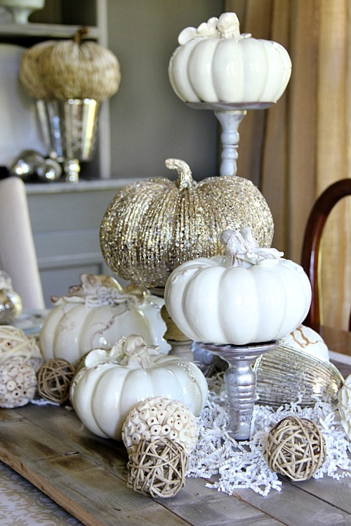 DIY Gorgeous Pumpkin Centerpieces.