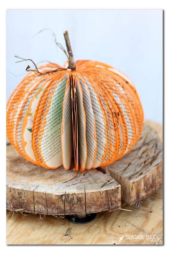 DIY Pumpkin From A Book.