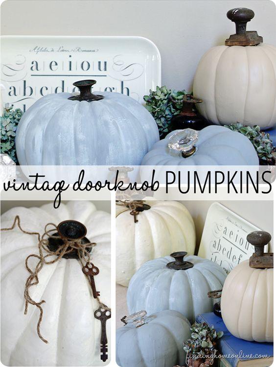Vintage Doorknob Pumpkins.