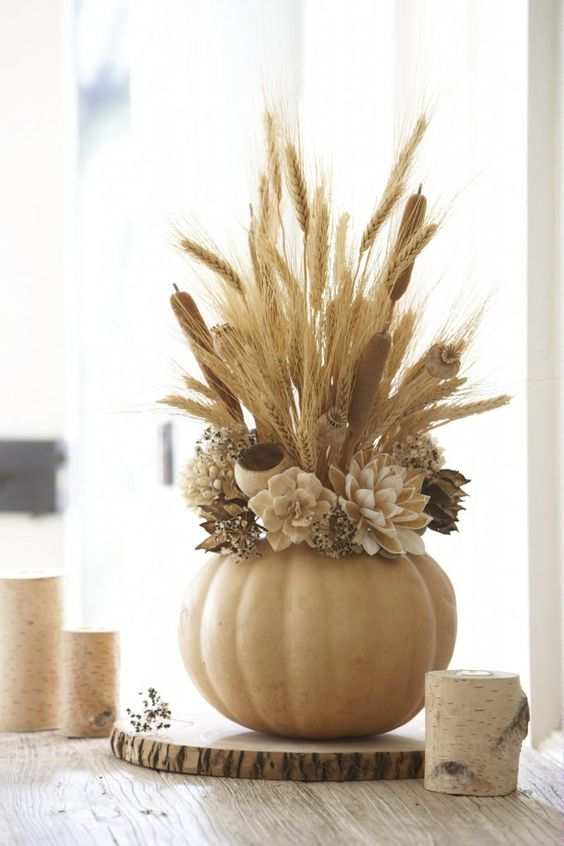 Use Faux Pumpkins to Create Stunning (and Long Lasting!) Centerpiece.