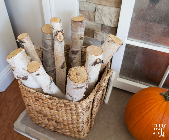 Birch Logs Help Warm The Space Up.