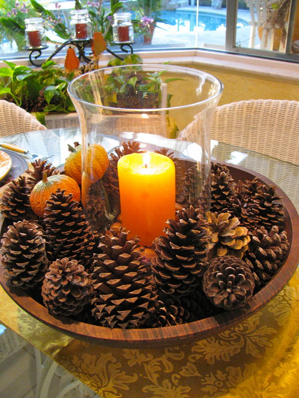 Pinecones Centerpiece.