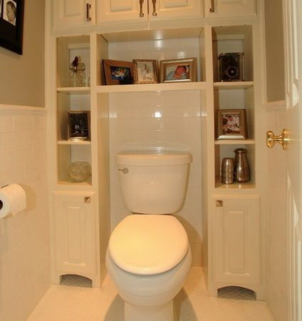 30 over the toilet storage ideas thumb