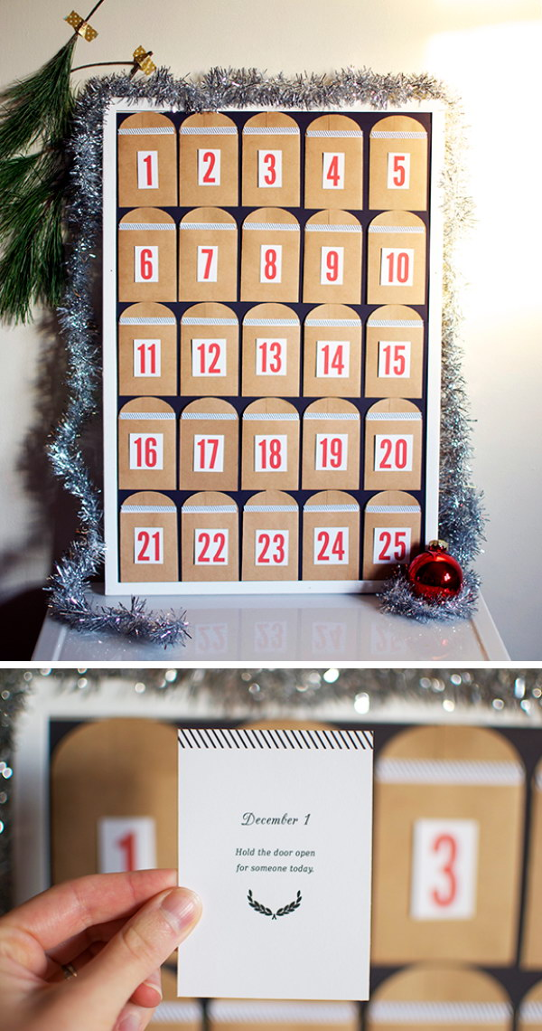 diy advent calendar count down to christmas