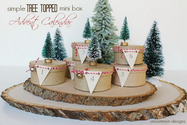 Simple Tree Topped Mini Box Advent Calendar.