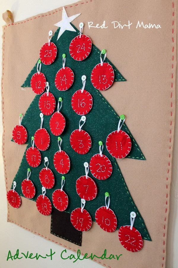 Felt Tree and Ornament Calendar.