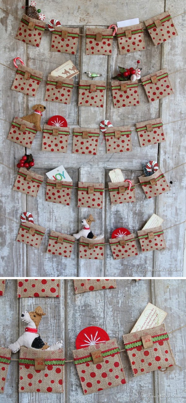 diy christmas countdown calendar ideas  u0026 tutorials 2017