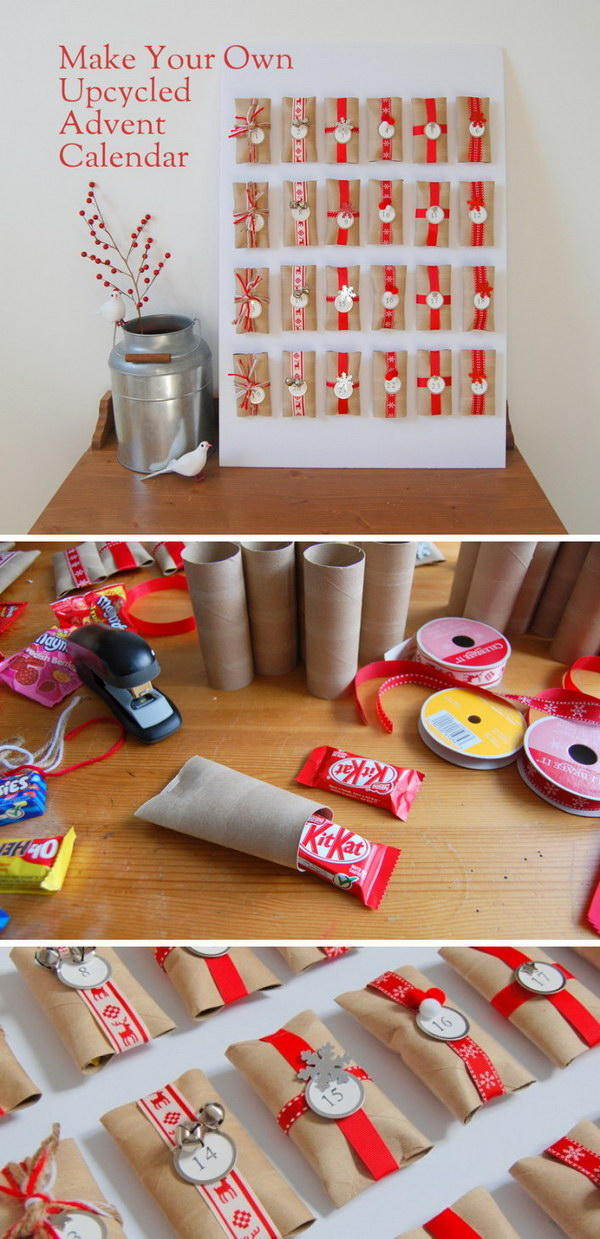 DIY Upcycled Toilet Paper Roll Advent Calendar