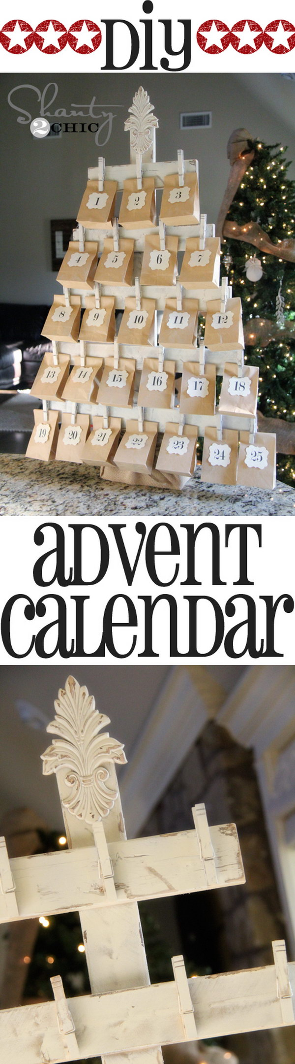 Diy Christmas Countdown Calendar Ideas Amp Tutorials 2017
