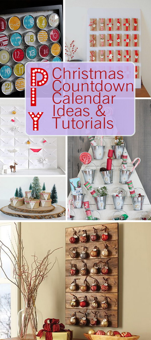 DIY Christmas Countdown Calendar Ideas & Tutorials!