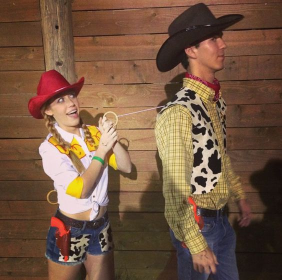 Woody and Jessie Toy Story Couple Costumes.