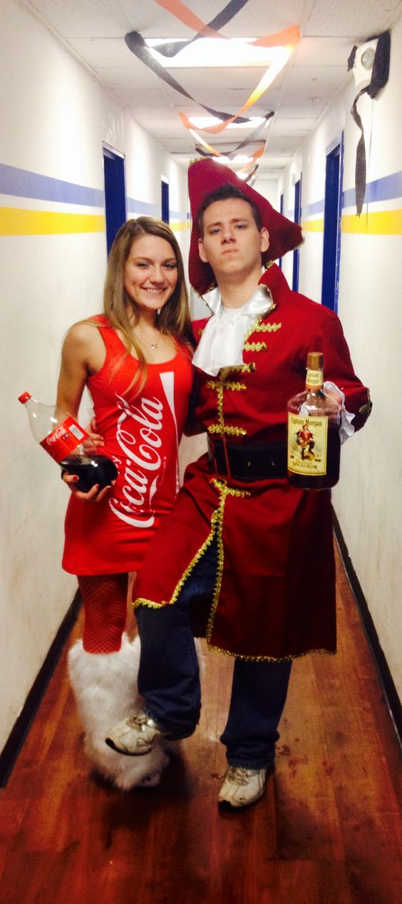 Captain Morgan and Coke Couples Costume .
