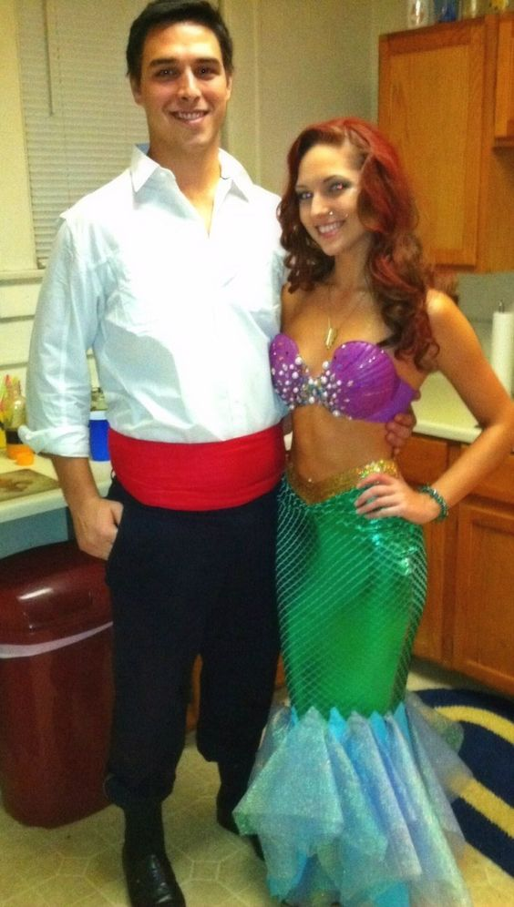 Rince Eric and Mermaid Costume.