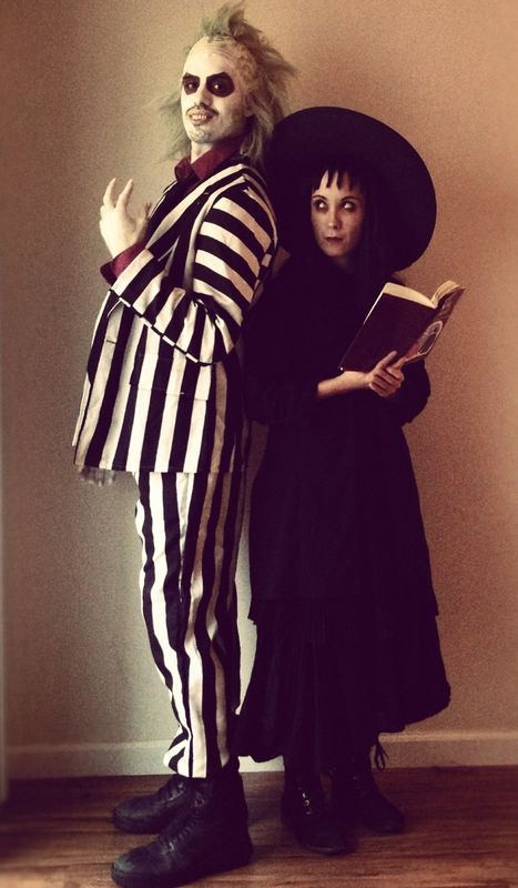 Lydia Deetz and Beetlejuice Costumes .