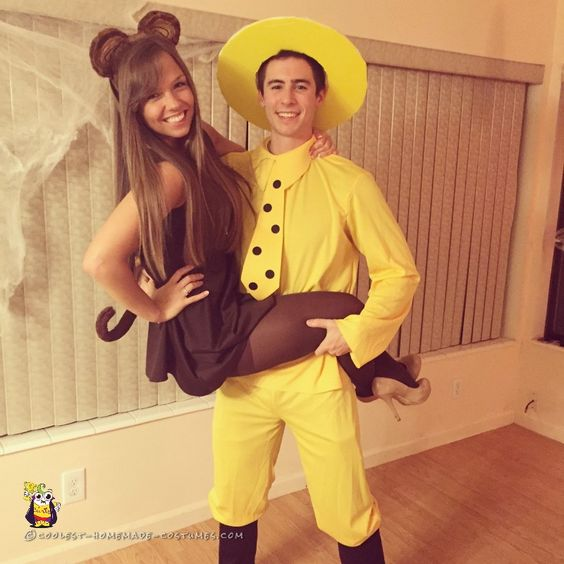 Man in the Yellow Hat and Curious George Couple Costume.