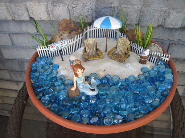 DIY Beach Themed Fairy Garden