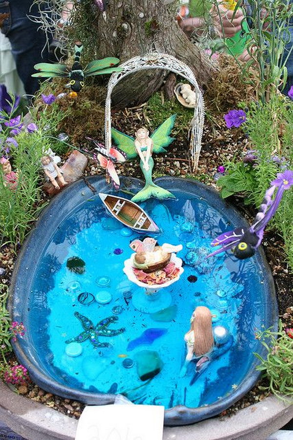 Fairy Gardens Ideas. Water Fairy Garden Gardens Ideas N
