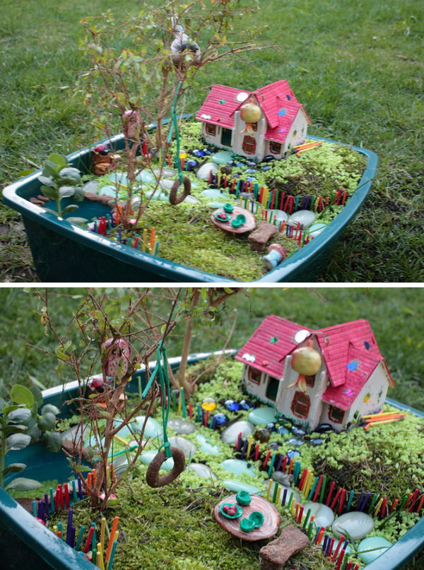 DIY Amazing Colorful Fairy Garden