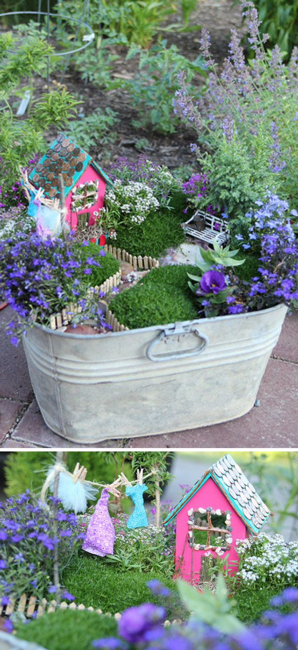 DIY Fairy Garden in a Bucket.