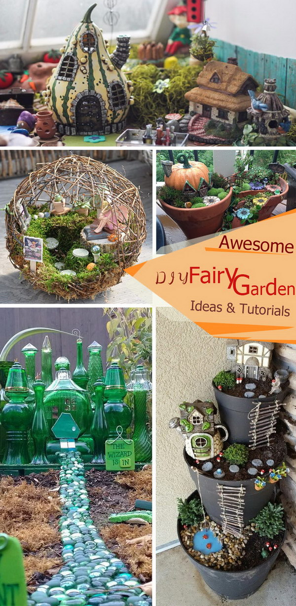 Awesome DIY Fairy Garden Ideas and Tutorials.