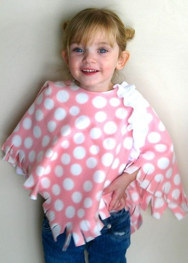 Easy DIY Fleece Poncho.