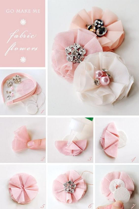 DIY Lovely Fabric Flower Hairband.