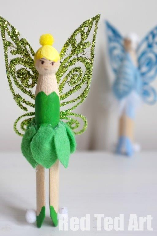 DIY Tinkerbell Clothes Pin Doll.