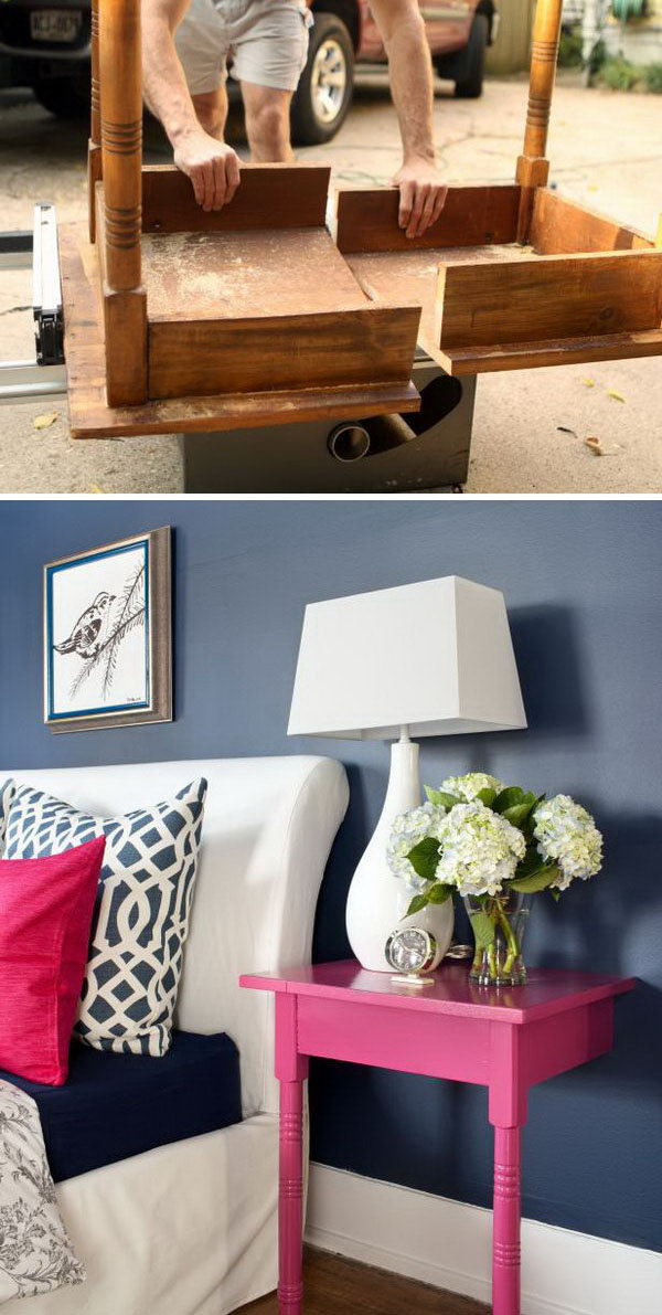 Turn an Unused Table into a Pair of Stylish and Useful Nightstands.