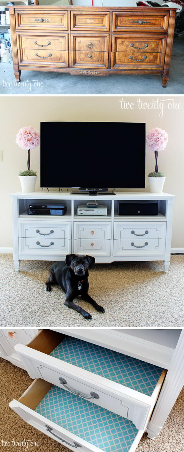 Turn an Old Dresser Into a TV Stand.