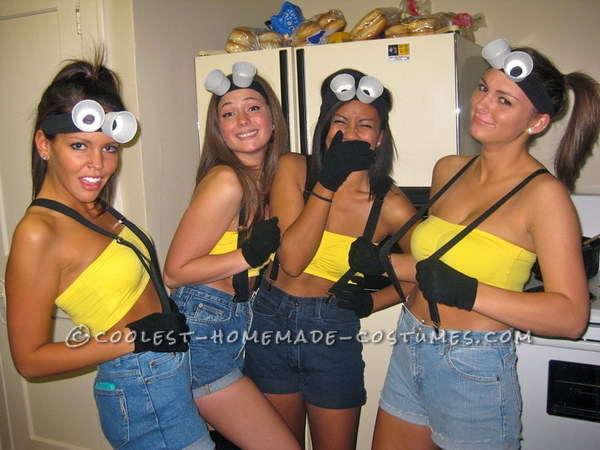 DIY Minions Costumes  sc 1 st  IdeaStand & 60+ Awesome Girlfriend Group Costume Ideas 2017