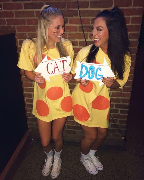 Paired CatDog Halloween Costume.