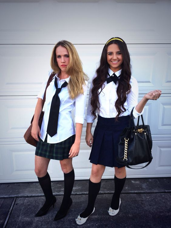 Serena and Blair Halloween Costume from XOXO Gossip Girl.