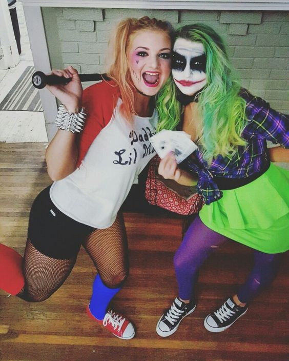 Harley Quinn and The Joker DIY Costumes.