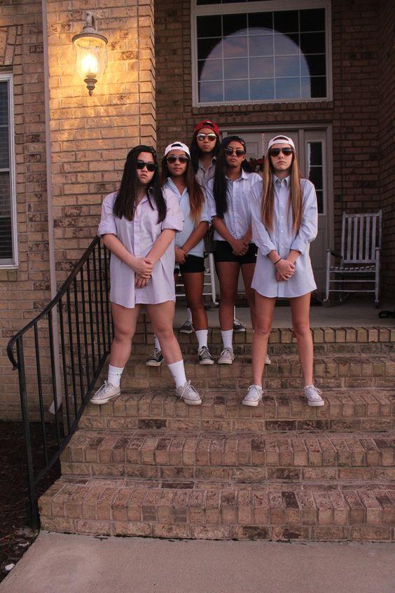 Frat Boy Girls Group Costume.
