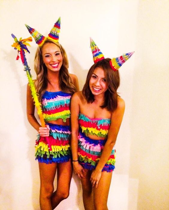 DIY Pinata Costume  sc 1 st  IdeaStand & 60+ Awesome Girlfriend Group Costume Ideas 2017