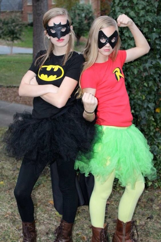 DIY Batman and Robin Costume.