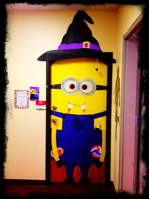 Minion Door Decoration for Halloween.
