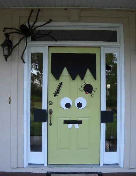 Easy Monster Door Decoration.