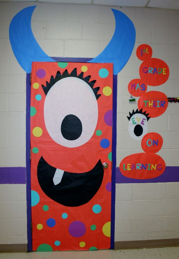 Monster Classroom Decor : Cute and fun halloween door decorating ideas
