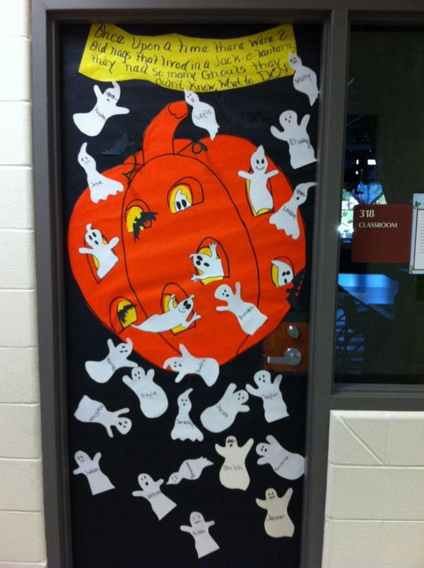 Halloween Classroom Door Decorations Ideas ~ Cute and fun halloween door decorating ideas