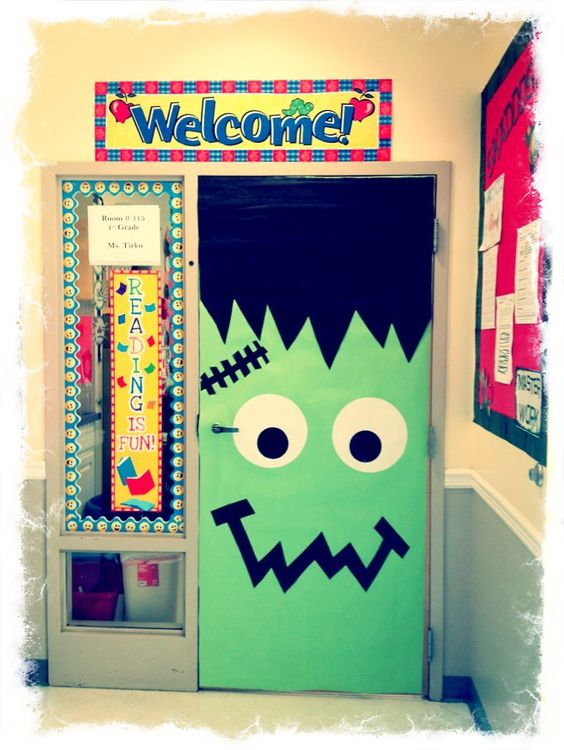 Halloween Classroom Door Decorations ~ Cute and fun halloween door decorating ideas