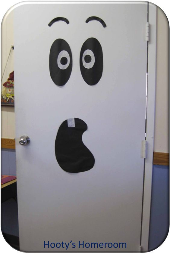 Halloween Skull Door Decoration .