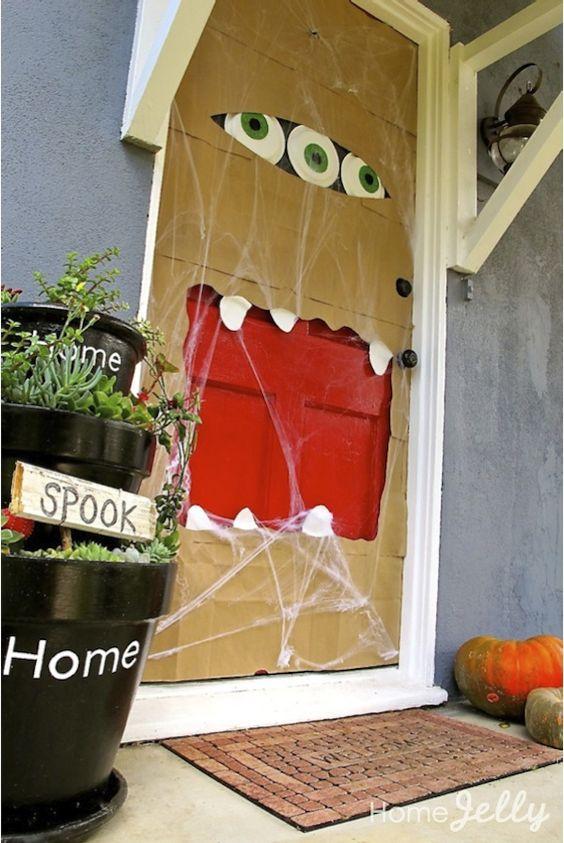 Halloween Paper Bag Door Monster.