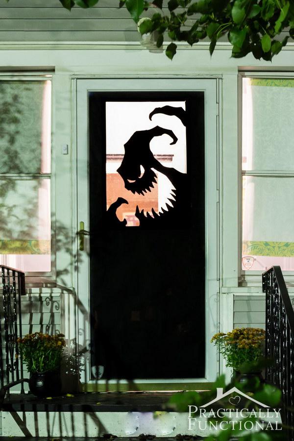 DIY Vinyl Halloween Door Decorations.